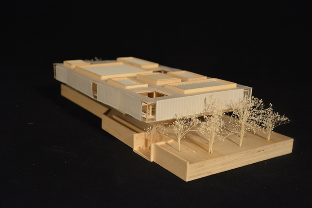 The Morris Gallery photograph of architectural model