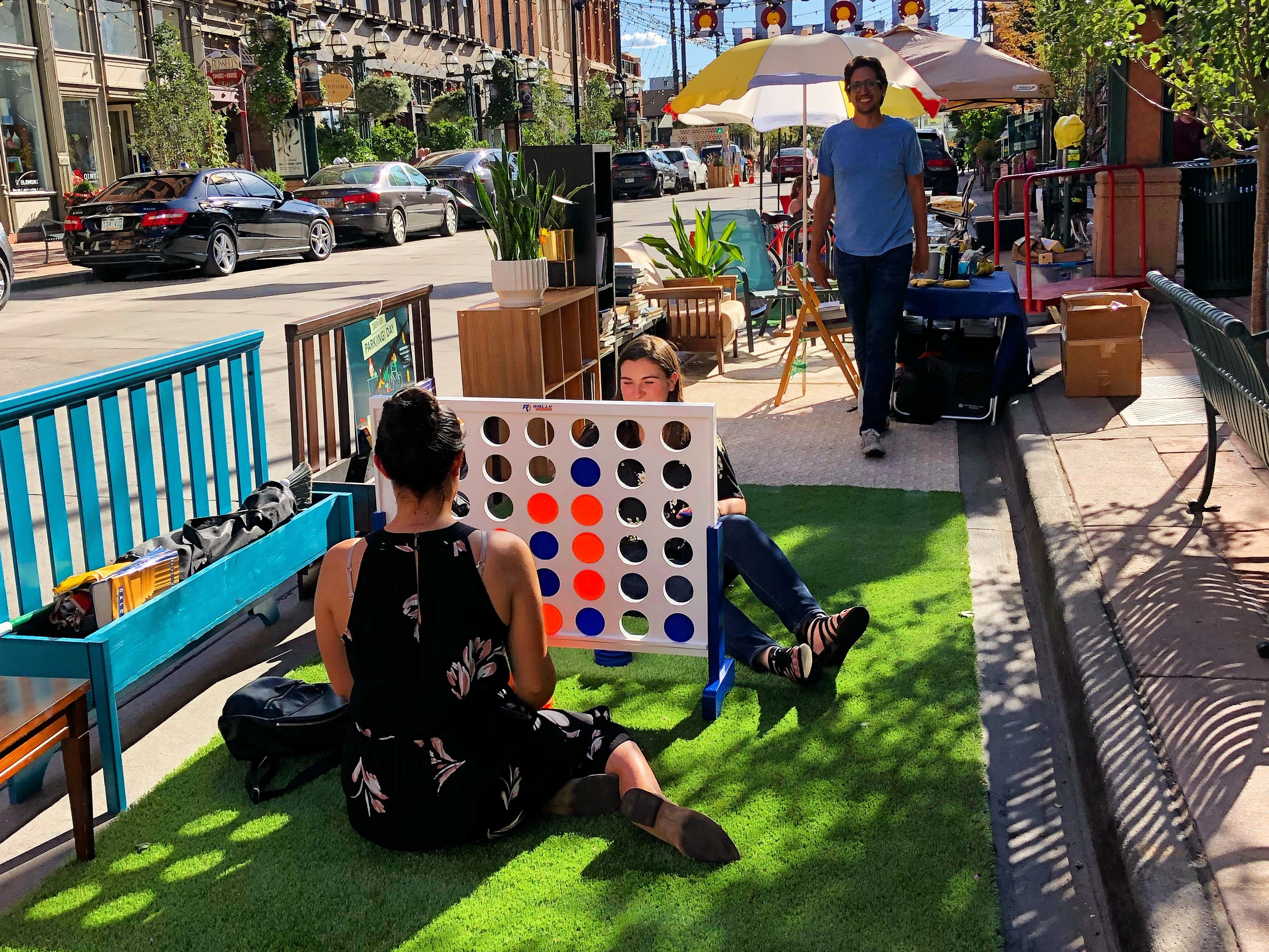 WTS Students Build a Parklet for PARK(ing) Day 2019.