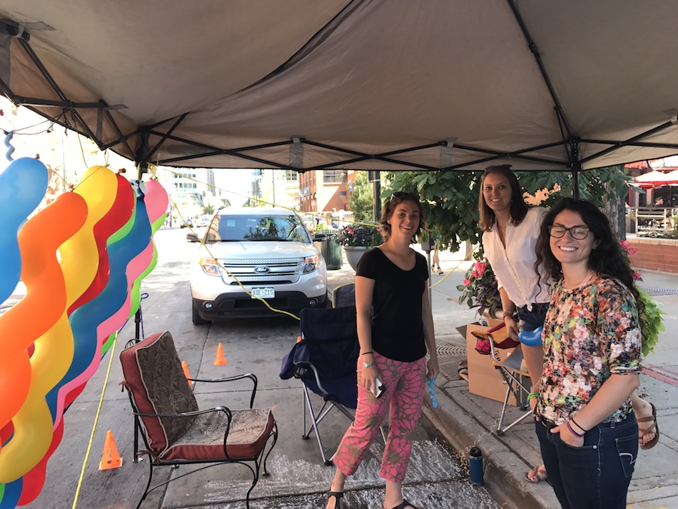 Urban and Regional Planning students participate in Parking Day 2017.