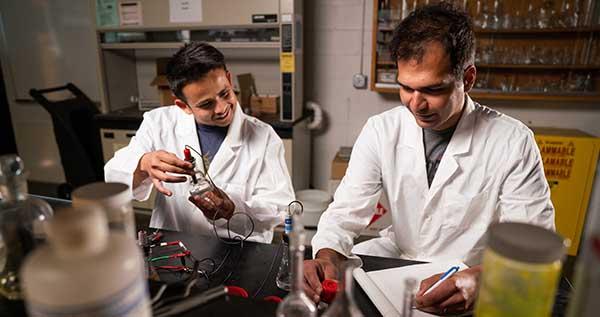 two men in laboratory
