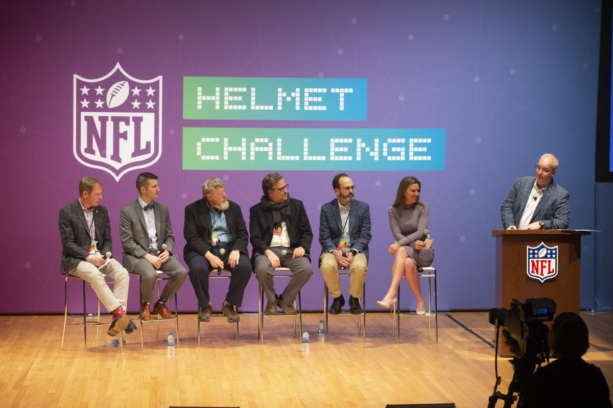 Yakacki speaks at NFL Helmet Challenge